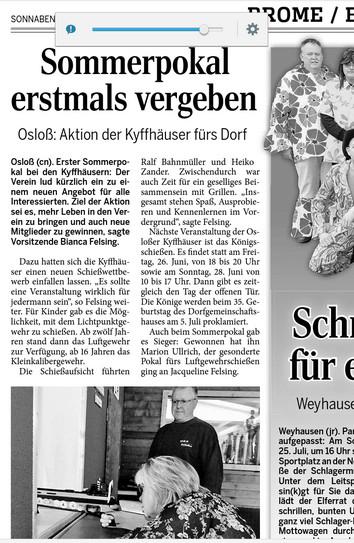 Zeitung Sommerpokal 2015